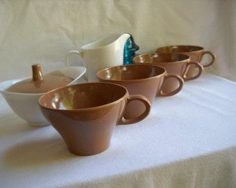 Vintage Melamine Vintage Melmac Dishes Vintage Texasware Melamine Cups Melmac  Sugar and Creamer Set