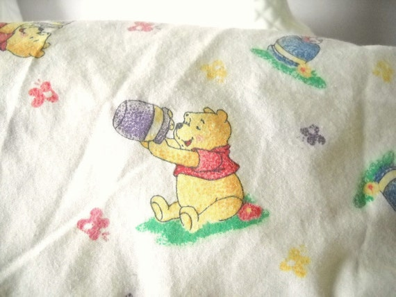 Pooh... Winnie the Pooh Vintage Crib Sheet  Child's Room Baby Nursery Decor Winnie The Pooh Piglet