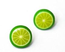 Lime Stud Earrings