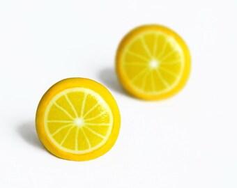 Lemon stud earrings