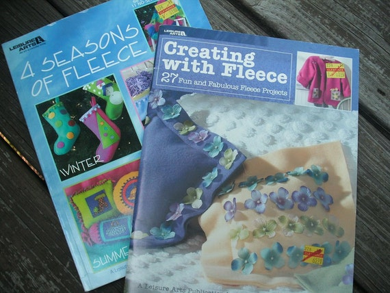 2 Leisure Arts Crafting with Fleece Books