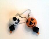 Jack-o-lantern and Ghost Halloween Earrings