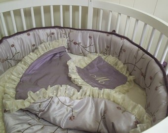 Round Crib Bumper ... Made with Client's Fabric -Labor Only