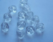 Vintage Lucite Crystal Nugget Beads bds368
