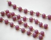 Vintage Lavender Acrylic Beaded Linked Drops drp056