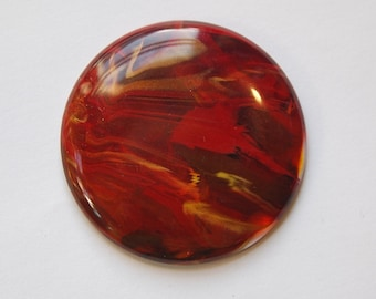 Vintage Red and Gold Cabochons Italy 45mm cab674E