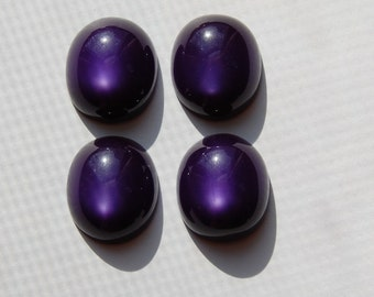 Vintage Deep Purple Moonglow Cabochons 18mm x 16mm cab273