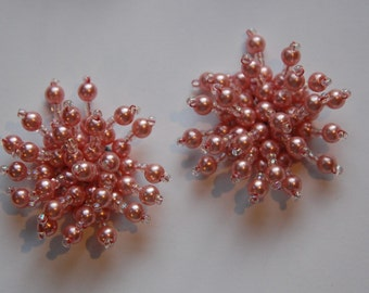 Another Pink Pearl Spray Appliques Cabochons btn001HH