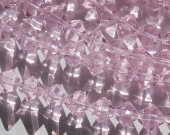 Vintage Pink Glass Bicone Beads 8mm bds227