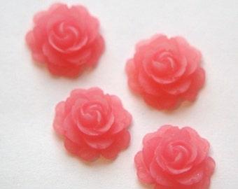 Vintage Style Pink Rosebud Flower Cabochon cab648C