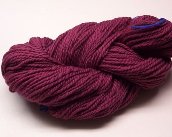 Mauve Handspun Wool Yarn 204yds 2ply