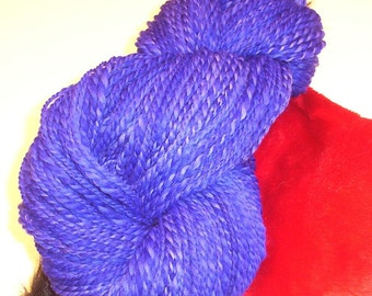 Shades of Purple 2ply Hand Dyed Handspun Wool Yarn 206yds