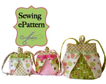 Sew Spoiled Mommy and Me Backpack Sewing Pattern Ebook 2 sizes Free Delivery
