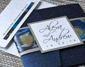 Deposit - Pocketfold Invitation (Alexa's Starry Night - Inspired Design)