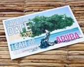 Save the Date Postcard - Aruba Divi Tree - Deposit and Design Fee
