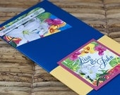 Boarding Pass Invitation or Save the Date Design Fee (Tropical Floral Design)