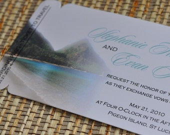 Boarding Pass Invitation or Save the Date Design Fee (St Lucia Design)