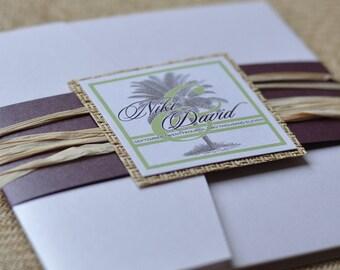 Pocket Fold Wedding Invitation Design Fee (White Palm Beach Design)