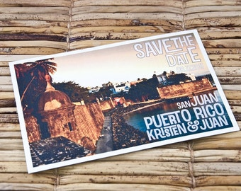 Save the Date Postcard - Puerto Rico - Deposit and Design Fee