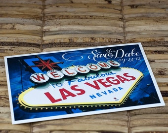 Save the Date Postcard - Las Vegas Sign - Deposit and Design Fee