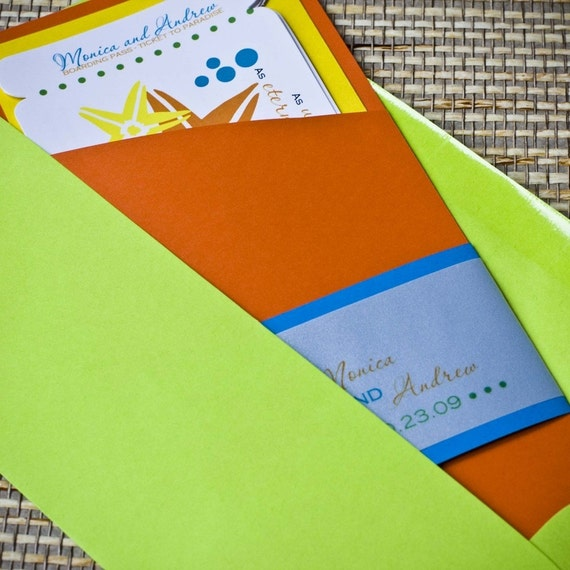 Ready-Made Boarding Pass Invitation Sleeves or Folders for DIY Do-It-Yourself Boarding Passes