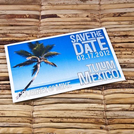 Save the Date Postcard - Azure Beach - Deposit and Design Fee