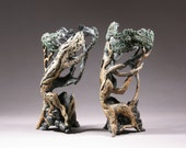Bonsai Inspired Vases, group of 2, 11 July 9