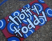 Ole Miss Hotty Toddy canvas board (6x12)