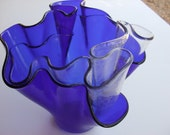 Cobalt Stained Glass Vase