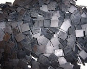 100 1\/2 Inch Kokomo Black Tumbled Stained Glass Mosaic Tiles