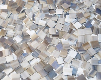 100 1/2 Inch Smokey Brown Tumbled Stained Glass Mosaic Tiles