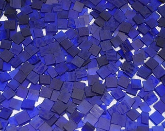 Mini Royal Blue Tumbled Stained Glass Mosaic Tiles