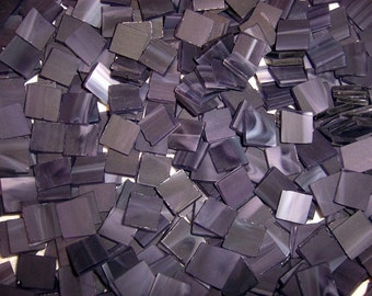 100 1/2 Inch Playful Purple Tumbled Stained Glass Mosaic Tiles