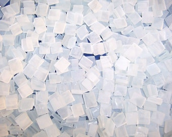 3/8 Inch Mini Frosted Tumbled Stained Glass Mosaic Tiles