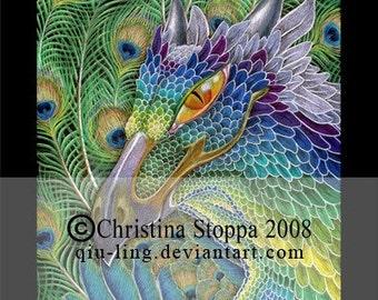 Phoenix Dragon - Original Art Print by Christina Stoppa