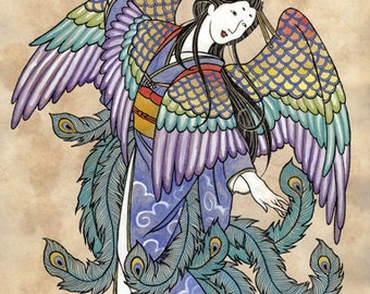 Hagoromo - Original Art Print by Christina Stoppa