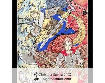 Kindred Spirits - Original Art Print by Christina Stoppa