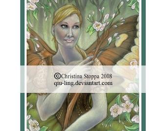 Lady Spring - Original Art Print by Christina Stoppa