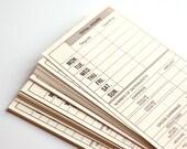 Set of 25 Manila Time Card Slips