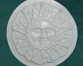 Sun Stars Plaque Plastic Craft Mold for Plaster or Cement Use