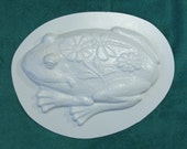 Fancy Frog Plastic Craft Mold for Use with Cement or Plaster