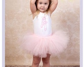 Ballet Tutu Set Girls Tutu Outfits Pale Pink Tutu Ballerina Outfit 5 Year 6 Year Ballerina Tutu Dress
