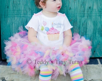 1st Birthday Tutu Set Toddler Birthday Girl Outfits Birthday Petti Tutu Outfit 9 12 18 Months