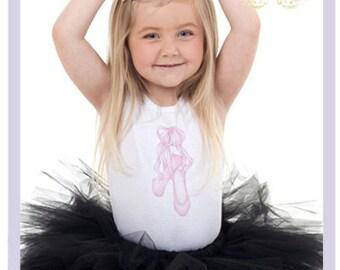 Black Tutu Ballerina Outfit Baby Ballerina Shoes Infant Onesie 9 12 18 24 Months