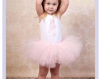 Toddler Ballet Tutu Set Girls Tutu Outfits Pale Pink Tutu Ballerina Outfit 2T 3T 4T Ballerina Tutu Dress