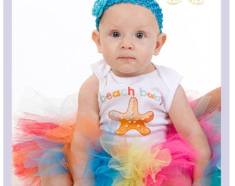 Baby Girl Beach Outfit Summer Tutu Baby Tutu Outfit Starfish Onesie Newborn 3 6 Months
