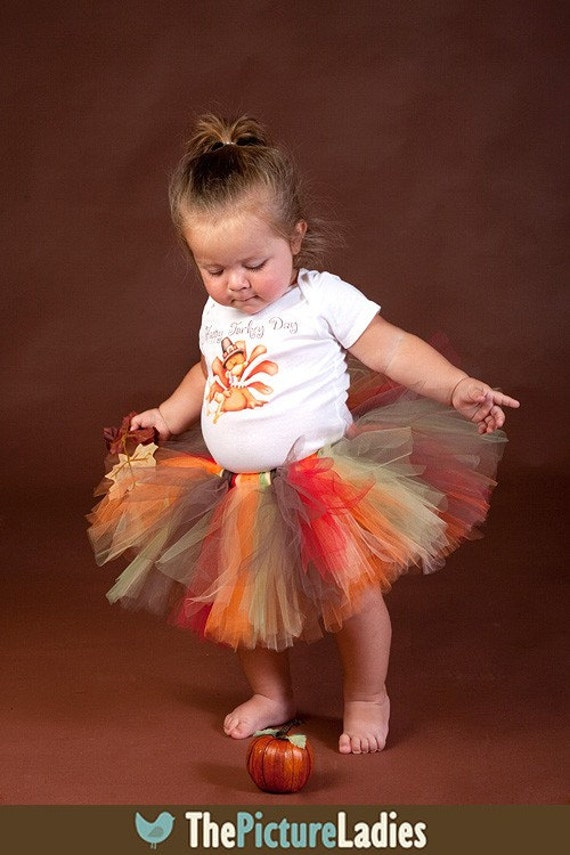 Fall Thanksgiving Tutu Outfit For Baby Toddler 6 9 12 18 24