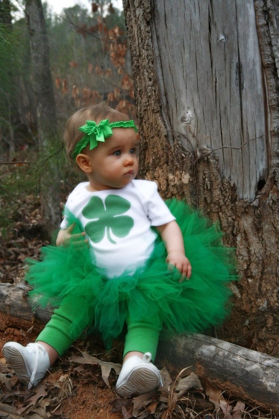 Green st patrick s tutu outfit baby toddler for your little