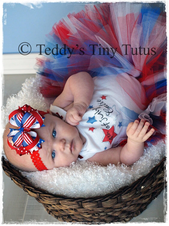 July Fourth Summer Tutu Outfit Baby Newborn Preemie 3 Months