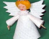 4 Inch Felt Angel Tree Topper for Small Christmas Trees